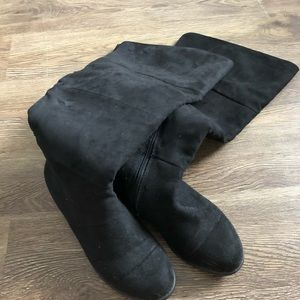 Wide Calf Knee High Boots size 8